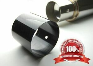 "4"" Add on Carbon Fiber Cover Tip For Catback Axle Back Exhaust Muffler"