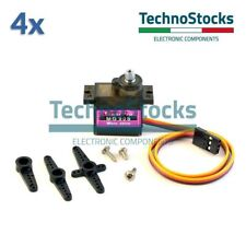 4x Servo motore Micro MG90S - Metal GearBox Helicopter Airplane Car Robots Robot
