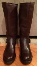 NEW WOMEN FRYE VERONICA SLOUCH BROWN COGNAC LEATHER TALL BOOTS CLASSIC SZ  8