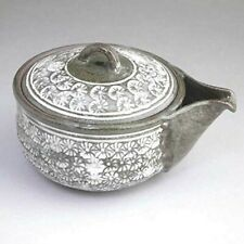 Hohin Kyusu Kyo Kiyomizu yaki Sencha Japanese pottery tea pot  Mishima KikuJapan