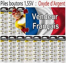 Piles boutons 1,55V Oxyde Argent SR66W G4 177 377 SR626 LR41 LR44 LR43 LR54 LR66