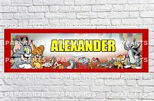 Personalized Tom and Jerry Name Poster with Border Mat Art Decor Wall Banner