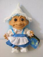 "Russ Troll Doll 5"" Holland White & Blue Dress & Hat W/ Tag"