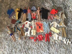 Vintage Barbie Ken Dolls, Clothing Lot