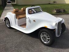2021 WHITE california roadster Golf Cart car 4 Passenger Seat FAST LUXURY CUSTOM