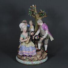 Meissen grand personnages groupe acier personnage Figure Figurine Porcelaine figurine porcelain