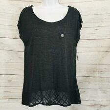 AEROPOSTALE Womens Lace Hem Chic Top Preppy Tee Scoop Neck Summer Shirt Size XL