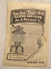 1917 Magazine Ad Acorn Brass Company Uni-Lite Used by U.S. Forces Advertisement