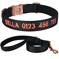 Personalised Dog Collar Puppy Name ID Tag Phone Number Embroidered XS S M L Pet