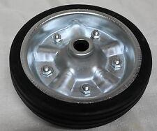 "8"" Jockey Wheel Replacement 200mm Solid Rubber Wheel 8"" Metal Rim"