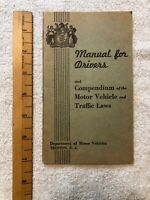 Vintage 1939 New Jersey Manual for Drivers - NJ DMV - Rare Great Illustrations