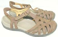 BARTRAPS  womens slingback sandals size 7.5 M faux Leather upper Brown