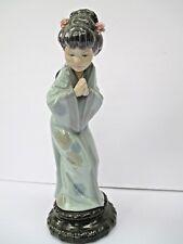 Lladro Japanese Geisha Sayonara (4989) Figurine Figure Excellent Condition 7121
