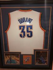 3c87ee7e1dc Framed Kevin Durant Autographed Oklahoma City Jersey COA Global Authentics