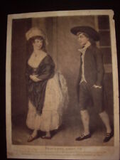 Très rare estampe Anglaise John Raphael Smith 1780 Mezzotint