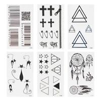 Men Women Waterproof Temporary Totem Tattoos Cross Cat Body Art Fake Stickers