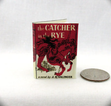 THE CATCHER IN THE RYE Miniature Book 1:6 Scale Readable Doll Book