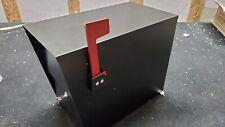 Qualarc LSLM-2000 LetterSentry Galvanized Steel Locking Post Mount Mailbox