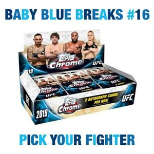 Rose Namajunas - Topps 2019 UFC Chrome Hobby Box Break - PYF