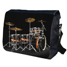 Drum Kit Set Up Personalised School Shoulder Messenger Bag
