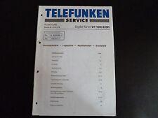 ORIGINAL SERVICE MANUAL TELEFUNKEN DT 1500 Évaluations détaillées du vendeur