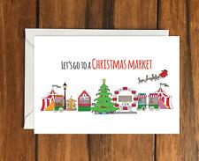 Vayamos a un mercado de Navidad Vacaciones Idea de Regalo A6 Tarjeta de felicitación