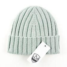 Men's COUNTRY CLUB Light Fantasy Blue Cashmere Knit Beanie Hat Cap 50 M S $195!