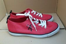Calvin Klein Jeans - 'Arnold' Canvas Sneakers - Red - UK 9