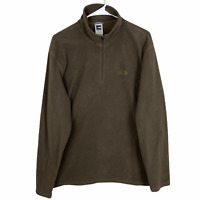 The North Face 1/2 Zip Fleece Jacket Pullover Women's Large Brown TKA 100