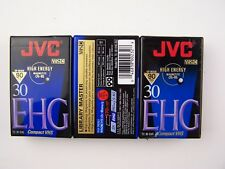 JVC TC-30 EHG 30 VHS-C Camcorder 3 Pack Tape Sealed NEW Never Used