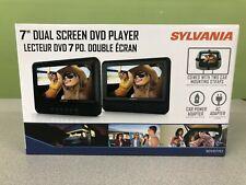 "New! Sylvania 7"" Dual Screen Dvd Player Sdvd7751"