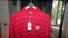 NEW Phillies Short Sleeve Knit, Antigua, Red w/Stripes (Men's S)- NEW WITH TAGS