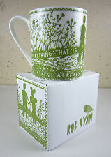 1 NEW IN BOX Rob Ryan Wild & Wolf TO BE IN HEAVEN COFFEE MUG Love Heart Romantic