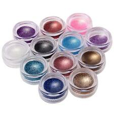 Set Glitter Powder Pure Nail Art tips UV Gel builder DIY decoration 12 pots