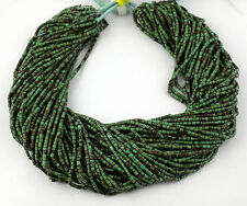 """20 Strands Synthetic Green Turquoise 1.75X.5- 2X2.25mm Heishi Beads 12"""" Hand Cut"""