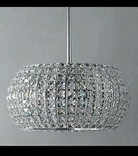 New Venus Chandelier, Ceiling Fitting, Chrome Finish, Crystal Glass - RRP £390