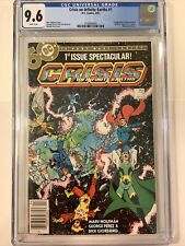 Crisis on Infinite Earths # 1 CGC 9.6 WP Newsstand 1st  Blue Beetle in DC comics