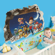 Paw Patrol Wall Sticker Kids 3D Decal Nursery Room Wall Mural Vinyl Home Decor