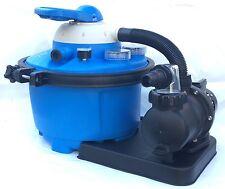 Pompa con filtro a sabbia a 7 vie per piscina piscine fuori terra da 6 m³/h