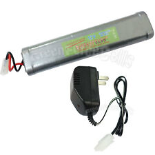 12V 3800mAh NiMH Rechargeable Battery Pack with Tamiya Plug + Charger US Stock