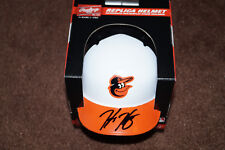 BALTIMORE ORIOLES HUNTER HARVEY SIGNED MINI HELMET.