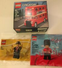 NEW Lego London Lot- 40220, 40308, 5005233,- Bus, Leicester, Guard