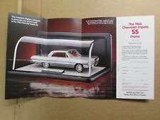 Franklin Mint Brochure 1963 Chevy Impala SS Display