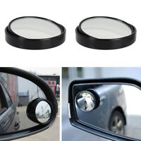 1x Driver Side Wide Angle Round Convex Auto Car Blind Spot Rearview Mirror Black