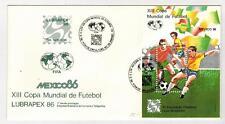 Brasilien Block 69 Mexico 1986 auf FDC Lubrapex 86