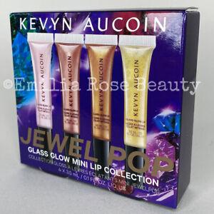 Kevyn Aucoin Jewel Pop Glass Glow Mini Lip Collection 4 x 3.5ml Lip Gloss