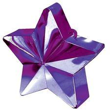 Violet Étoile Lourd Ballon Poids Aluminium à Hélium Anniversaire Mariage