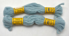 DMC Floralia 100% Wool Needlepoint Yarn - 2 Skeins Color Light Blue #7800