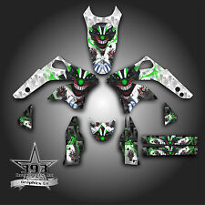KAWASAKI KX450F KXF 450 2006 - 2008 GRAPHICS KIT DECALS EVIL JOKER WHITE