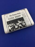 Vintage New England Patriots Boston Globe Super Bowl XX 20 1986 Paperweight